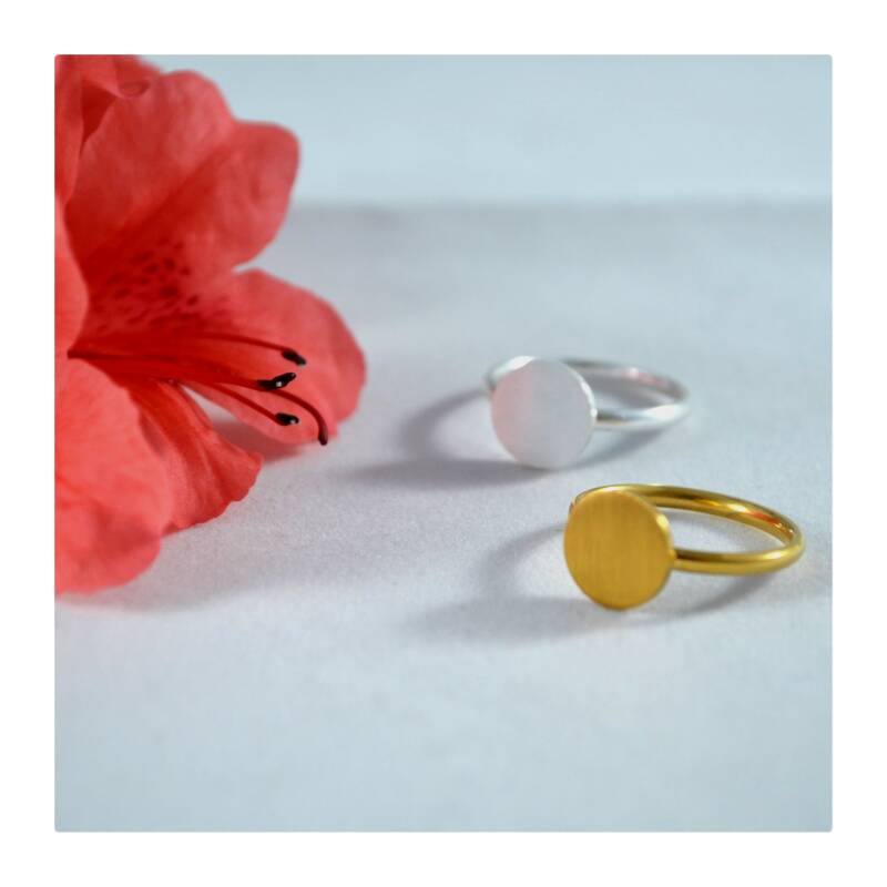 Amulet ring (Gold plated of Silver plated)