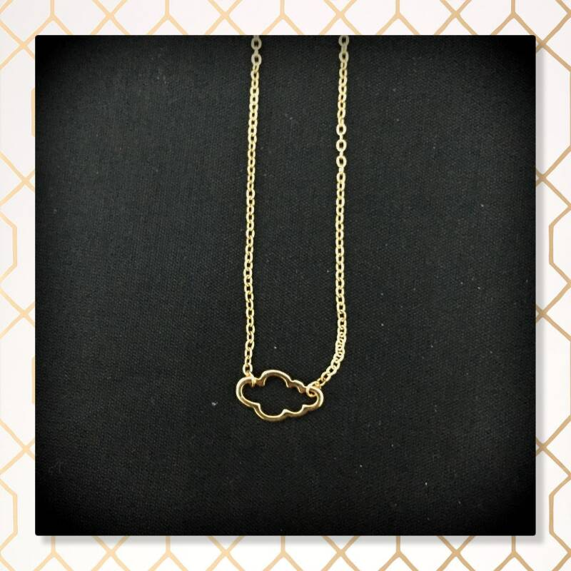 Wolk ketting Gold plated