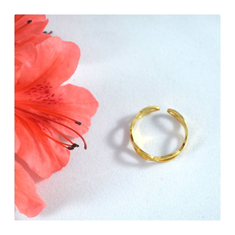 Infinity Ring  Gold plated