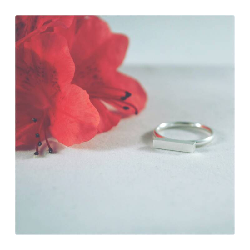 Blok ring Silver plated