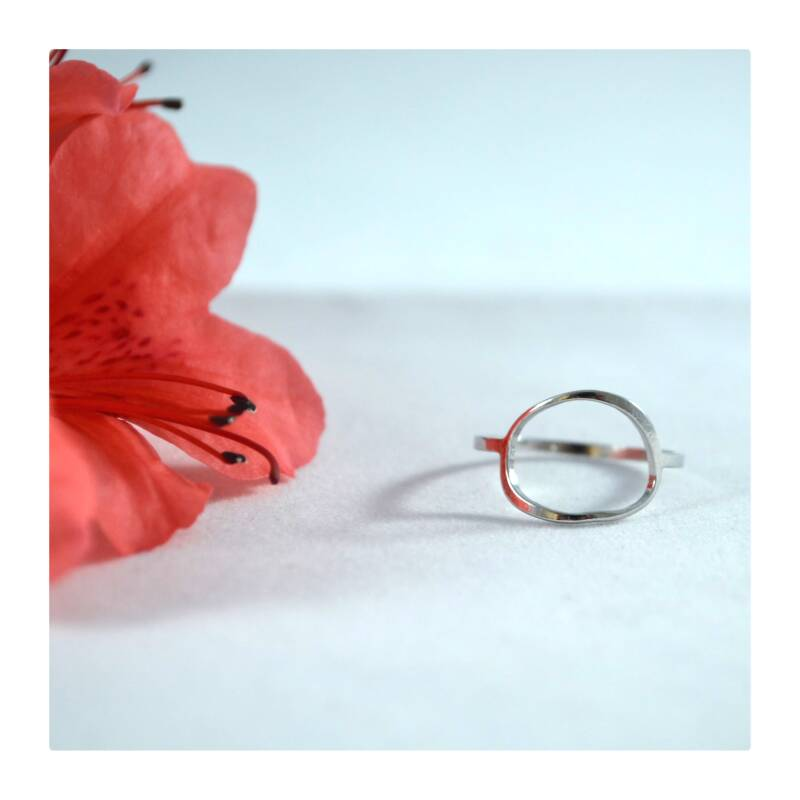 Open ring Silver plated