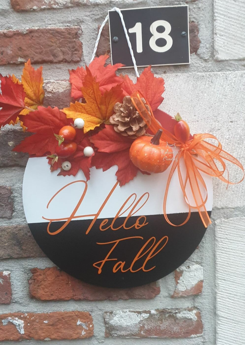 tekstbord 'Hello Fall'