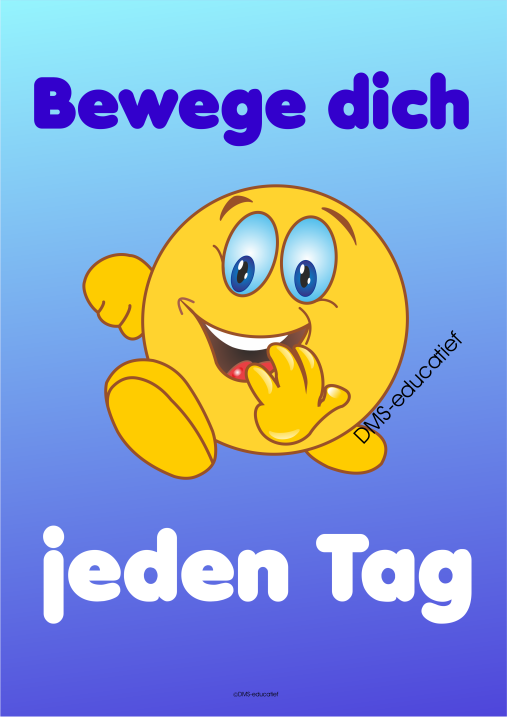 Poster 'Bewege dich jeden Tag'