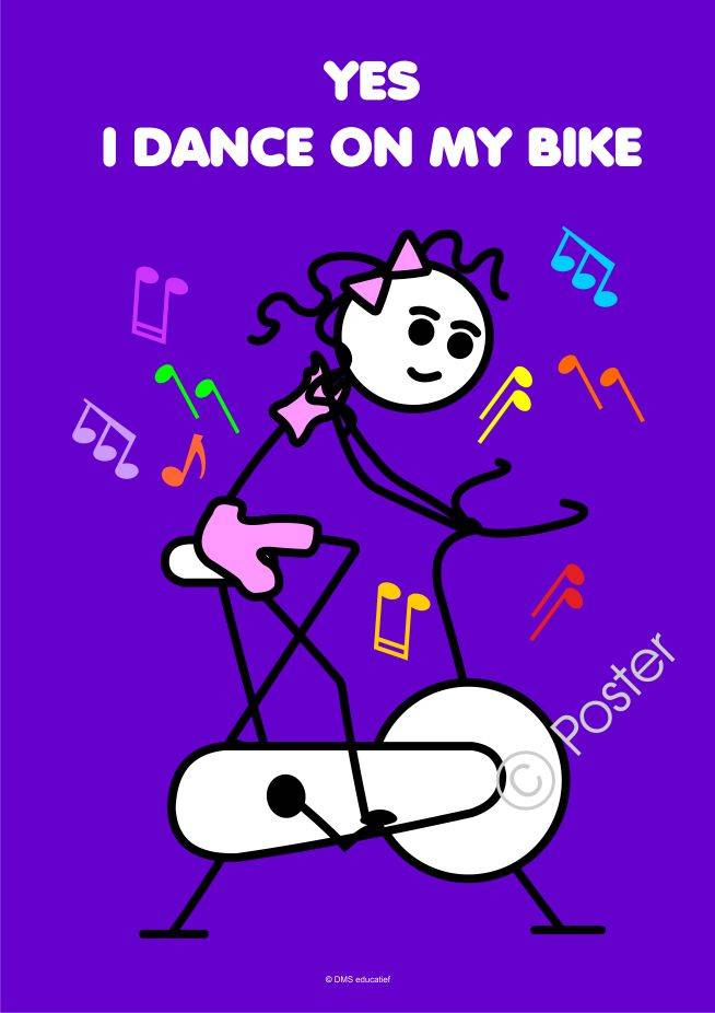 Poster 'Yes I dance on my bike'