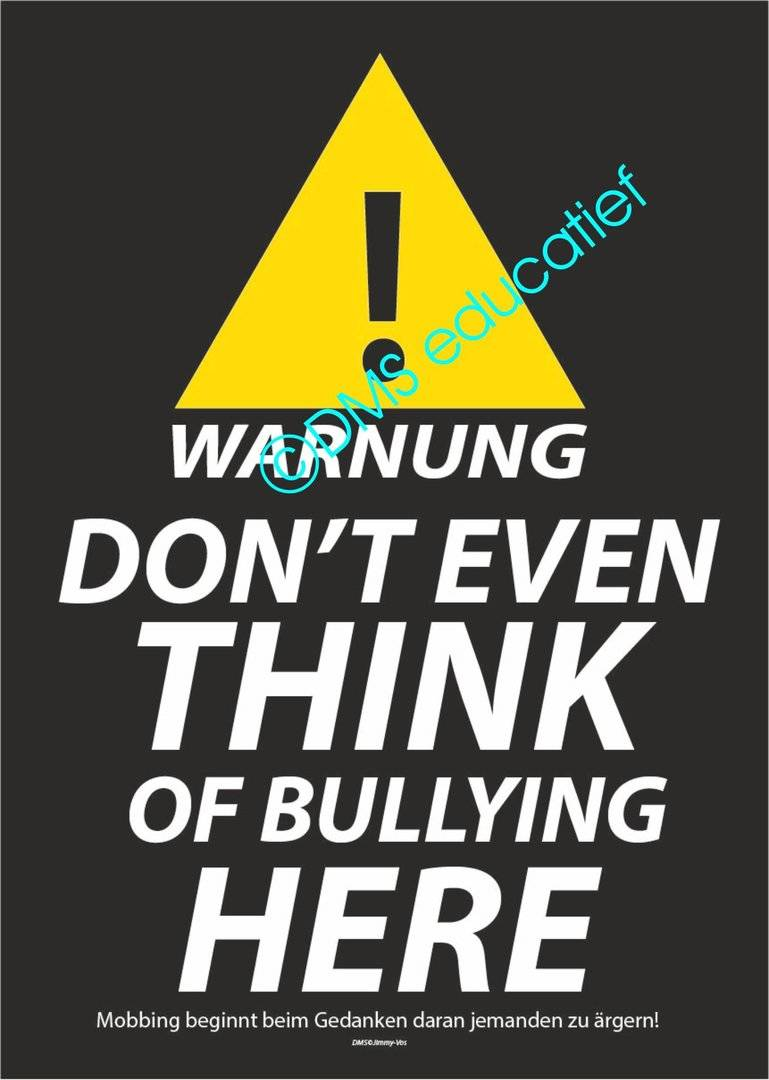Poster 'WARNUNG DON'T EVEN THINK'