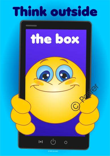 Poster 'Think outside the box'