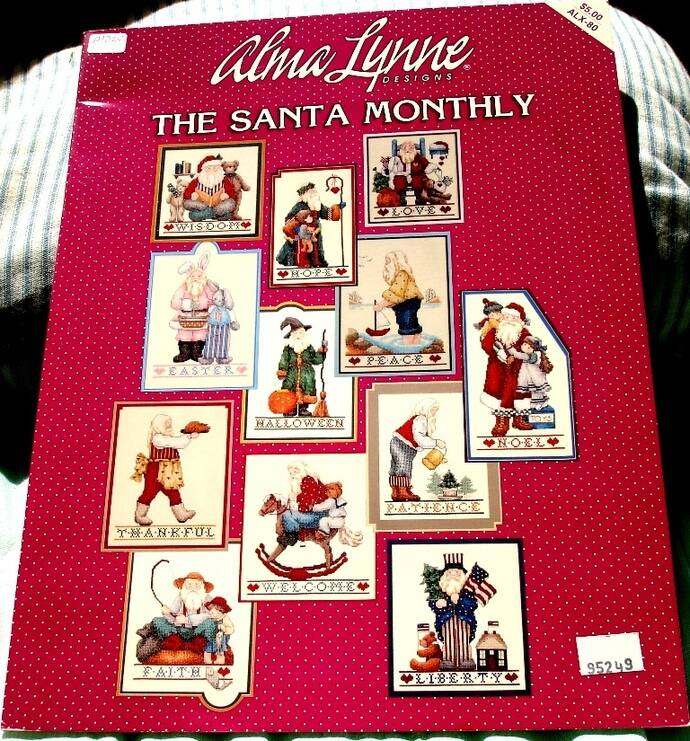 The Santa Monthly Cross Stich Booklet By Alma Lynne Design ALX-80