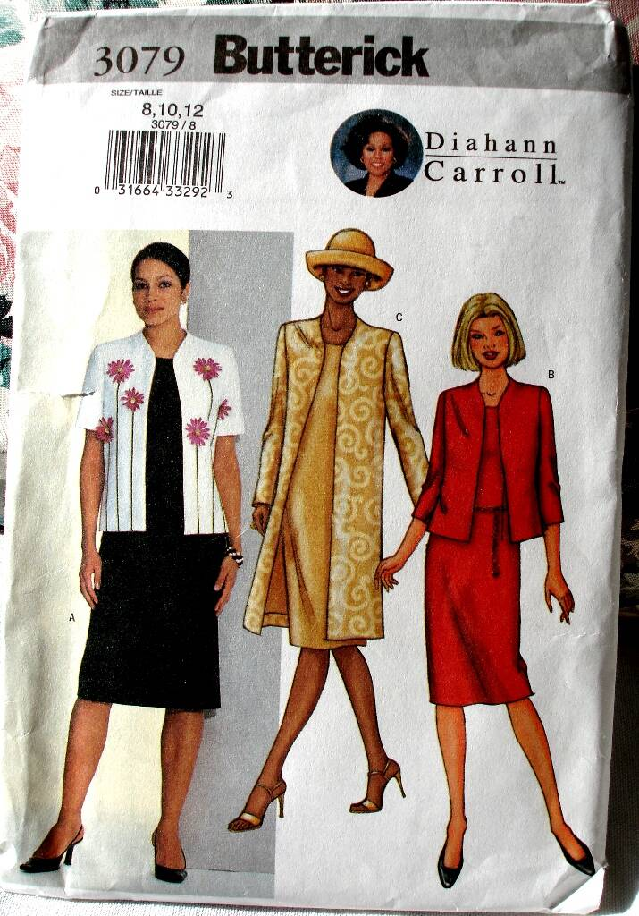 Butterick 3079 Misses Semi-Fitted Jacket And Dress By Diahann Carroll