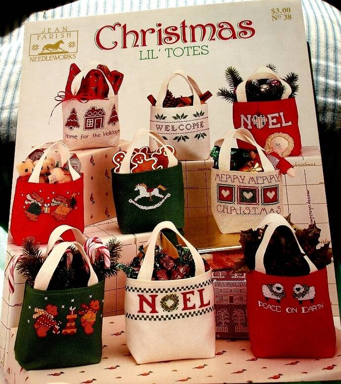 Christmas Lil' Totes By Jean Farish Needleworks No. 38