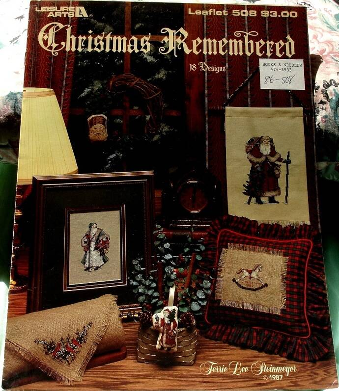 Christmas Remembered Cross Stitch Patterns By Terri Lee Steinmeyer Leaflet 508