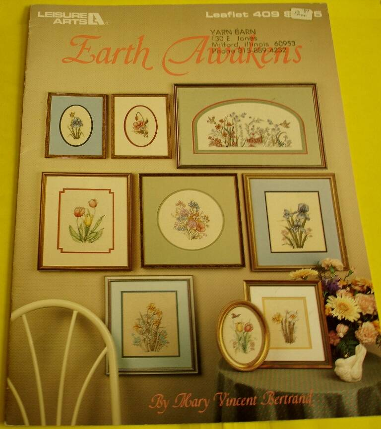 Earth Awakens Cross Stitch Leisure Arts Leaflet 409 Designed by Mary Vincent Bertrand