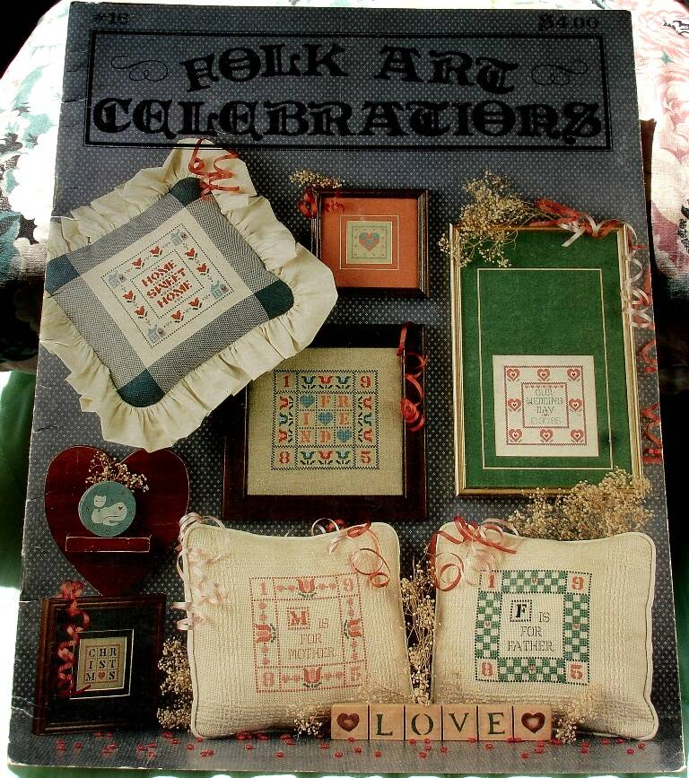 Folk Art Celebrations Cross Stitch Booklet by The Graph Menagerie 1985