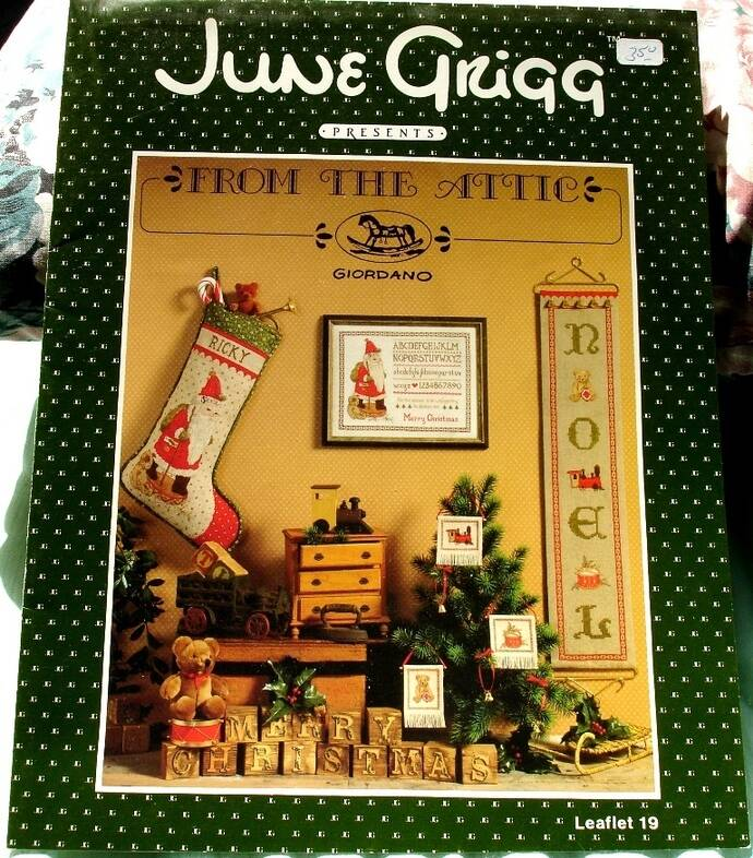 From The Attic Cross Stitch Pattern Leaflet 19 Designed By June Grigg