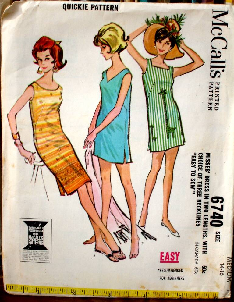 McCall's 6740 Misses Dress Pattern Size Small 10-12