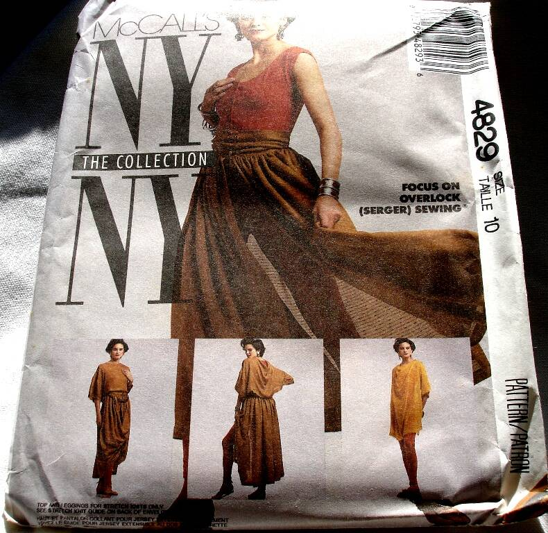 McCall's 4829 NYNY Misses T Shirts, Top, Skirt And Leggings Pattern Size 10