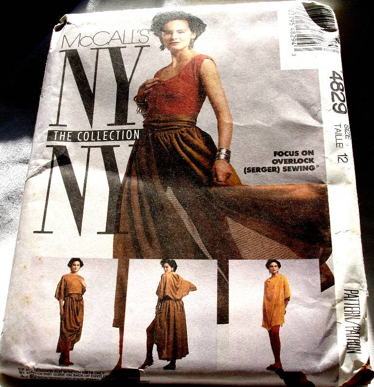 McCall's 4829 NYNY Misses T Shirts, Top, Skirt And Leggings Pattern Size 12