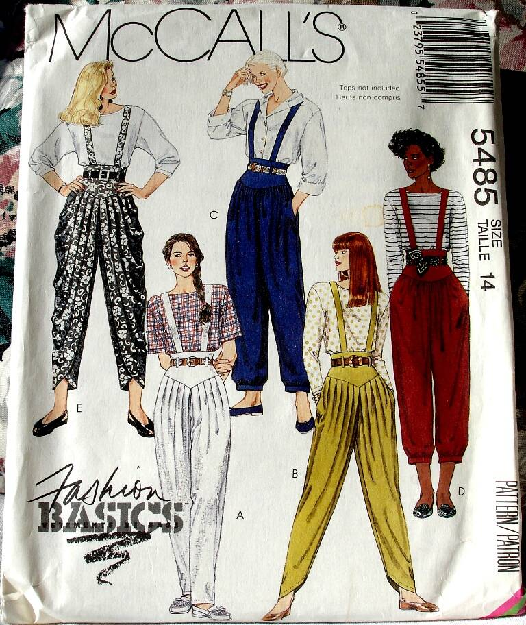 McCall's 5485 Misses Pants In Three Lengths And Belt Pattern Size 14