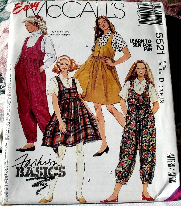 McCall's 5521 Misses Shirt Jumpers And Jumpsuits in Two Lengths Size D