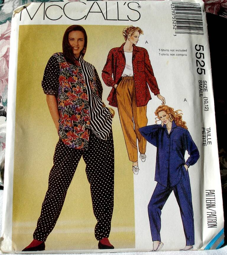 McCall's 5525 Misses Shirt And Pants