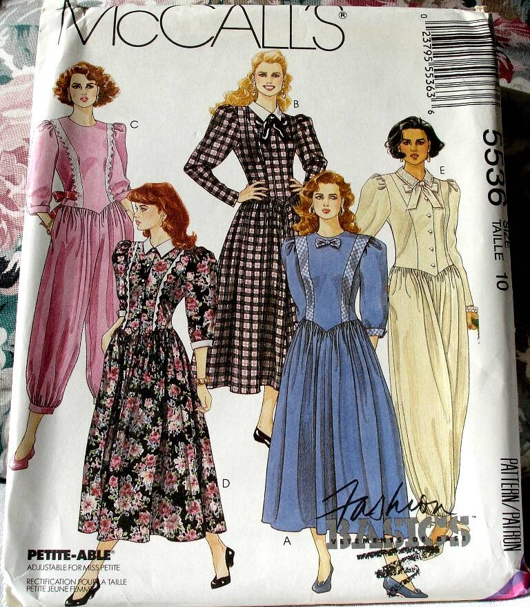 McCall's 5536 Misses' Dress And Jumpsuits In Two Lengths Size 10