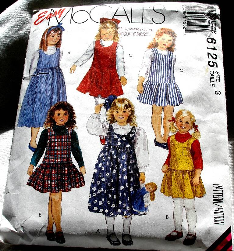 McCall's 6125 Children And Girls Pullover Jumper Two Lengths Pattern Size 3