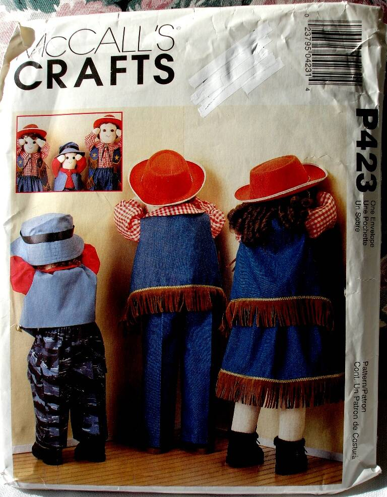 McCall's P423 Clothes Wardrobe For 25 And 36 Inch Time Out Dolls