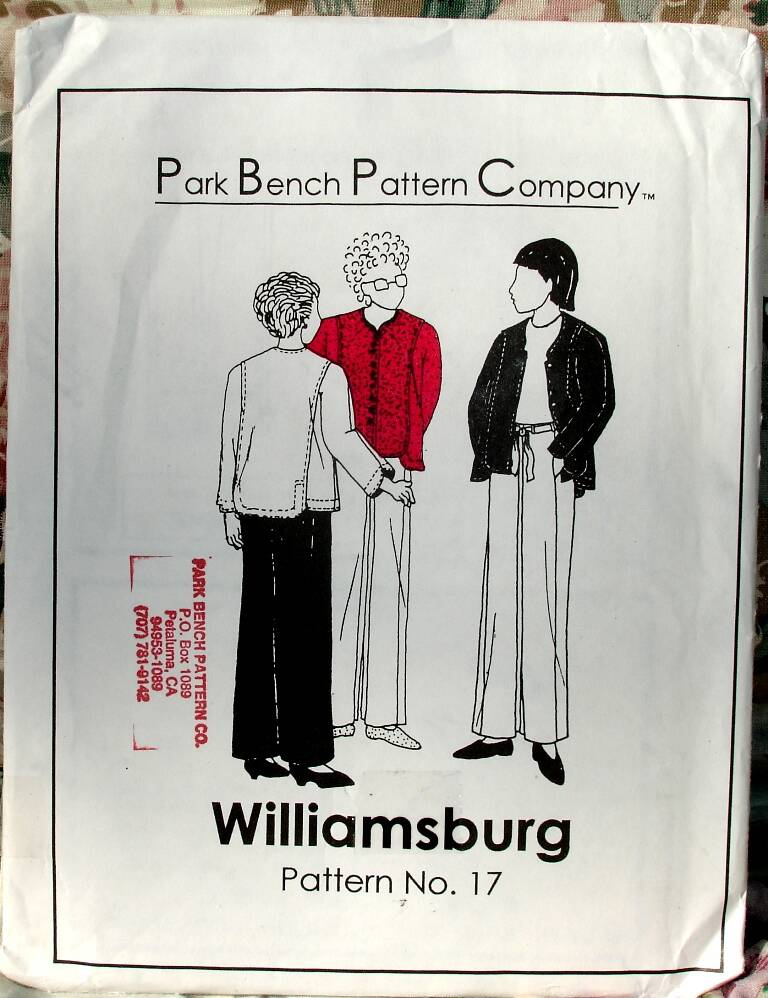 Williamsburg Pattern No. 17 By Park Bench Pattern Company