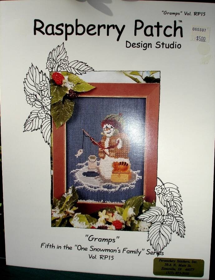 Gramps Counted Cross Stitch Chart By Raspberry Patch Designs Studio