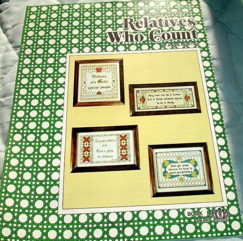Relative Who Count Cross Stitch Charts Book 1 by Angie Newton for Canterbury Designs