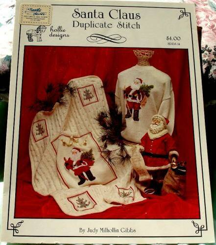 Santa Claus Duplicate Stitch By Judy Milhollin Gibbs For Hollie Designs HDDS-14