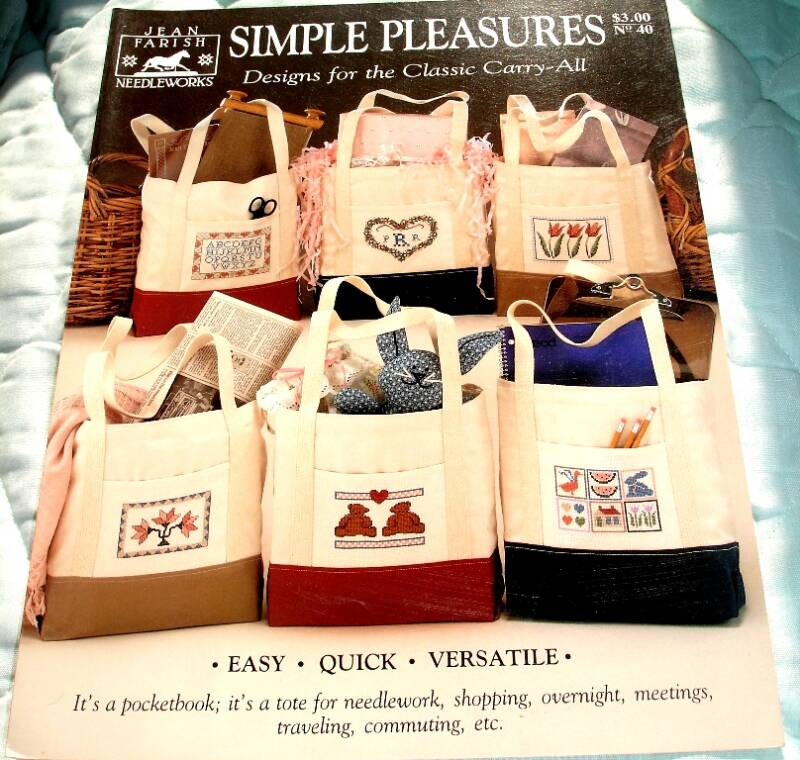 Simple Pleasures Designs For The Classic Carry All By Jean Farish Needleworks No. 40