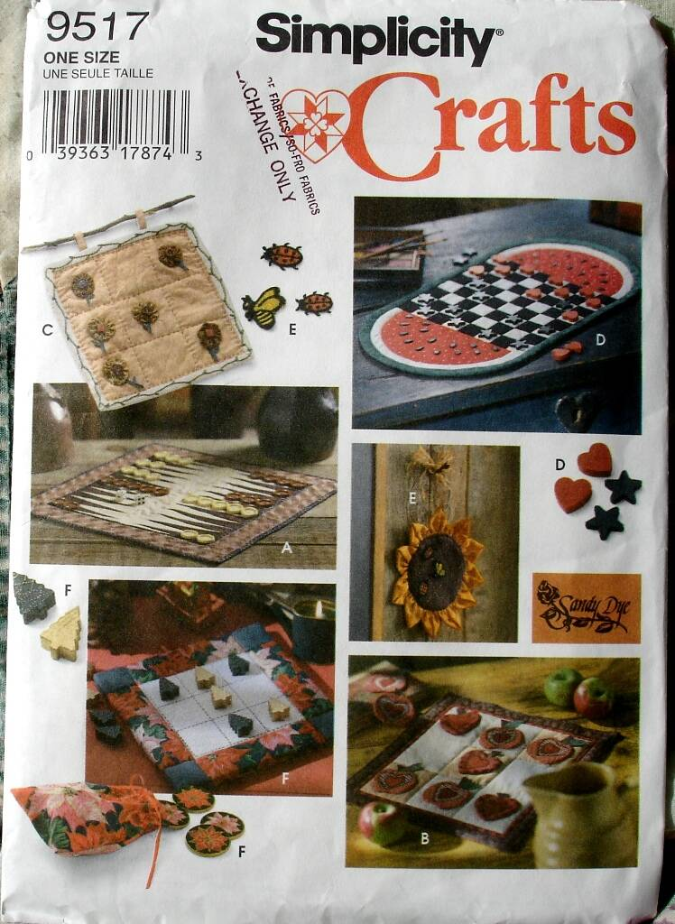 Simplicity 9517 Backgammon Checkers And Tic Tac Toe Game Board Pattern