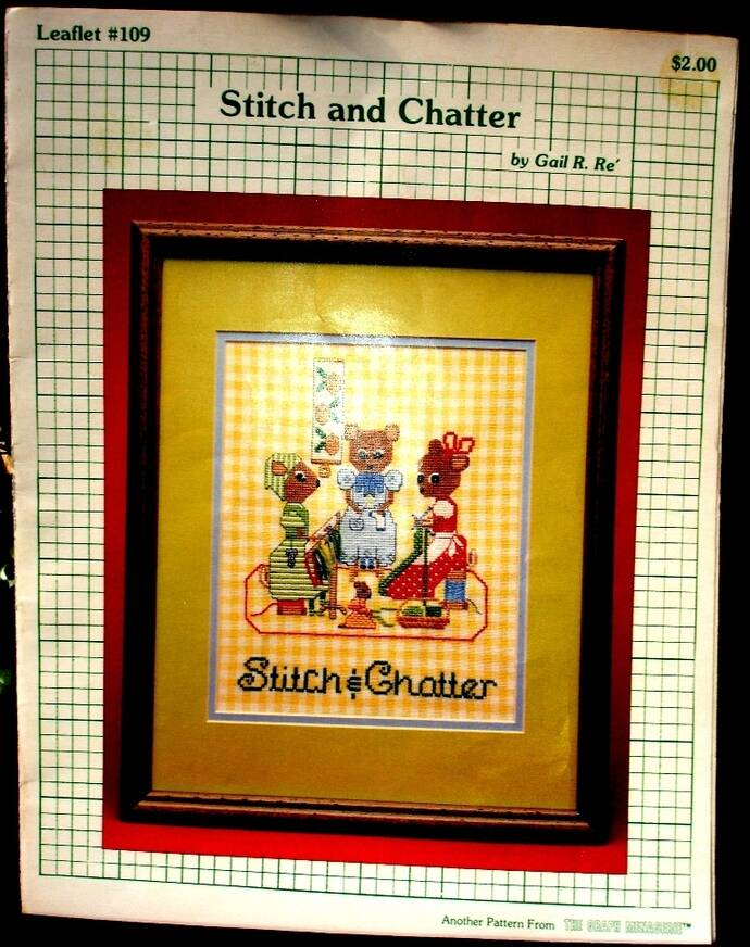 Stitch And Chatter Vintage Counted Cross Stitch Pattern Leaflet #109
