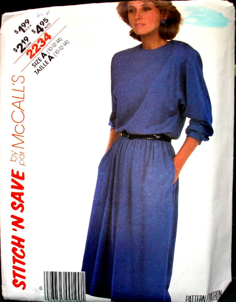 Stitch N Save 2234 By McCall's Vintage Misses Dress Pattern