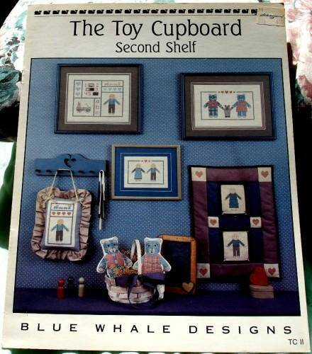 The Toy Cupboard Second Shelf Counted Cross Stitch Pattern