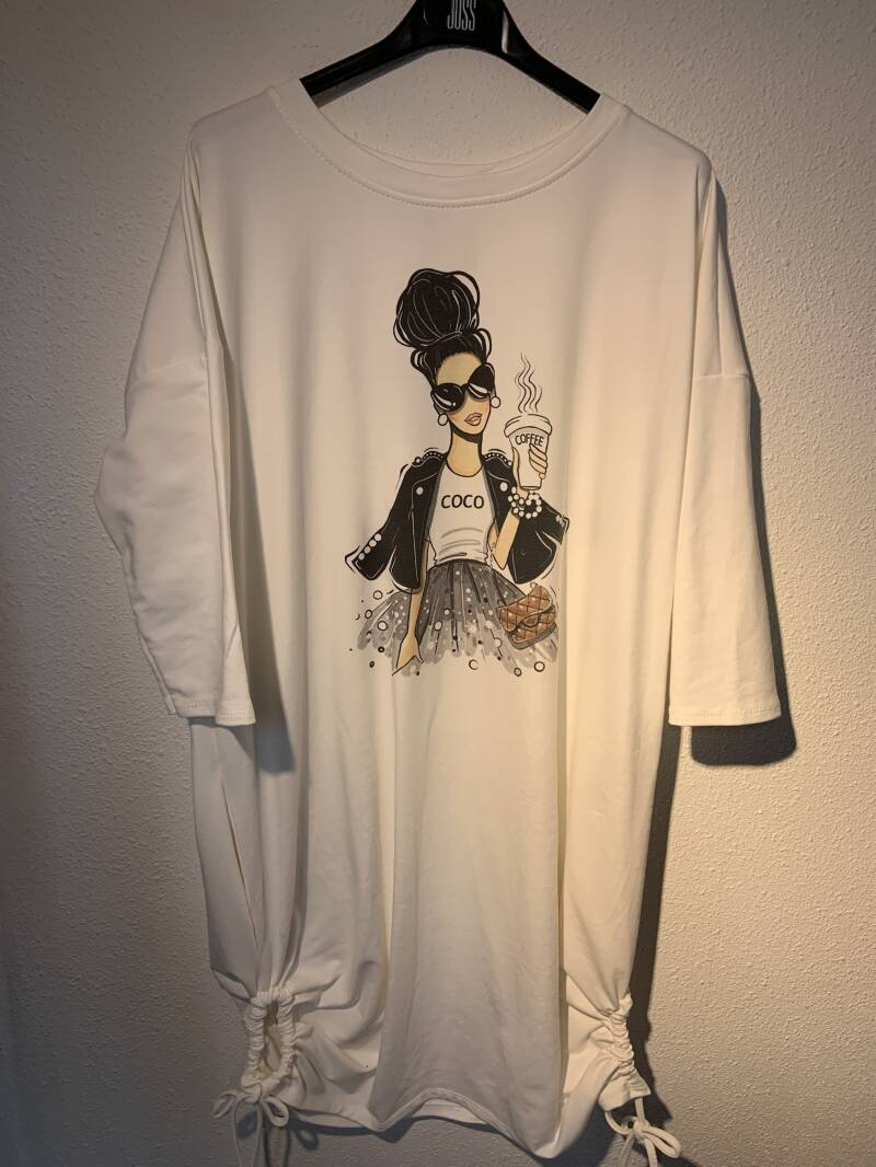 Top long sweater white