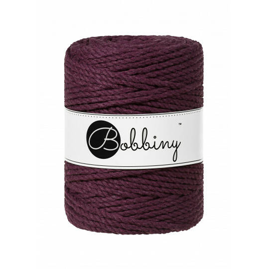 Bobbiny macramé triple twist  | 5mm | Blackberry
