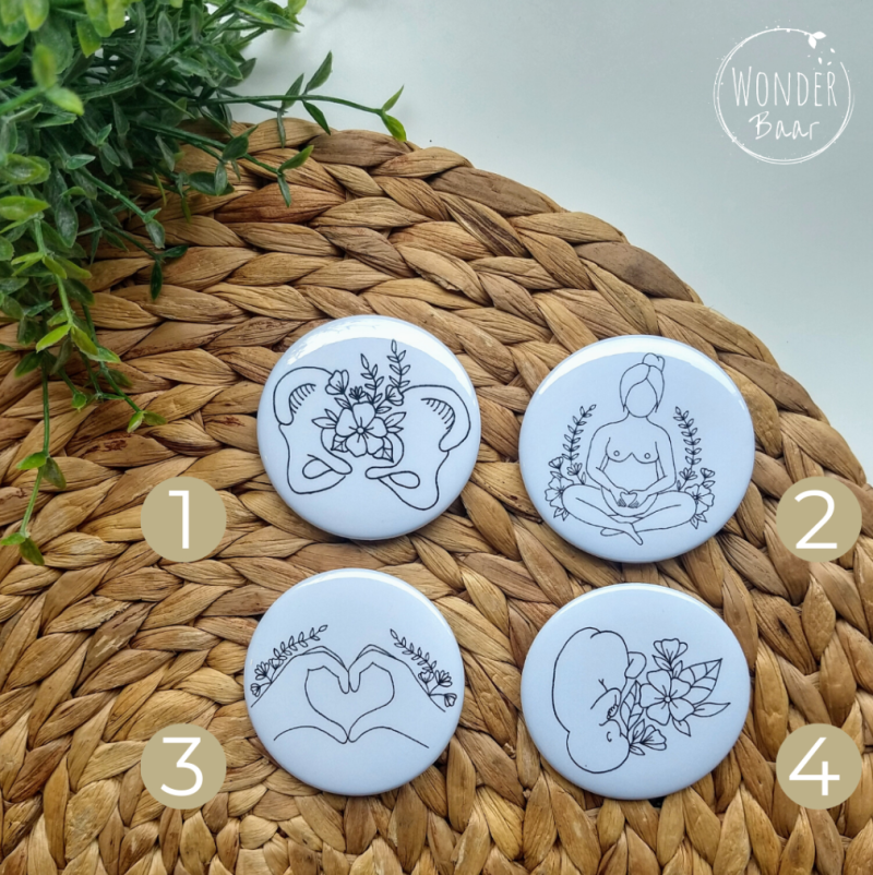 Buttons met illustratie