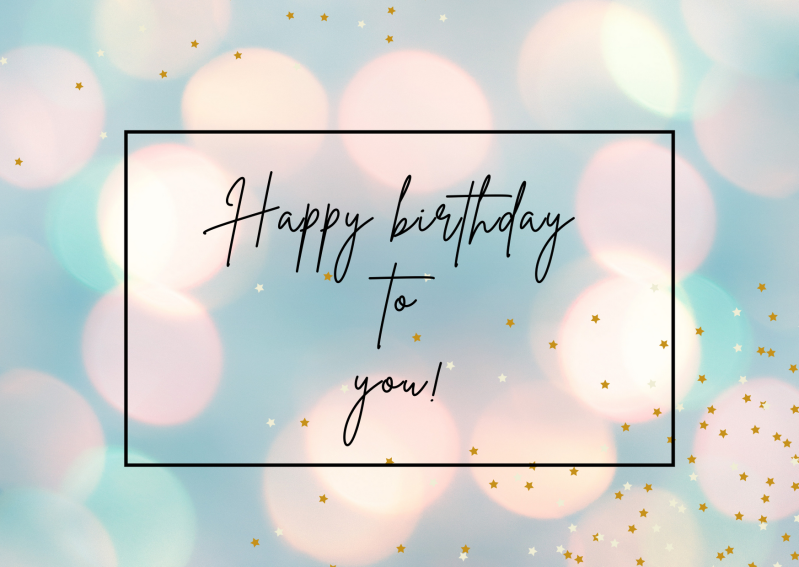 Kaart Happy birthday to you! - lichtbubbels