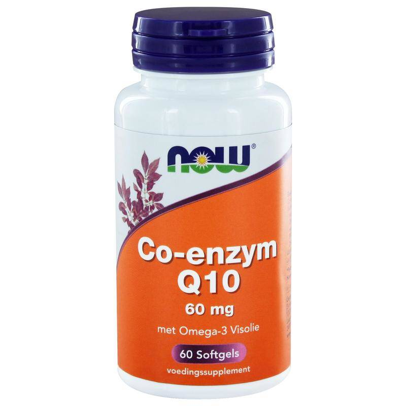 NOW Co-enzym Q10 60 mg met omega-3 visolie