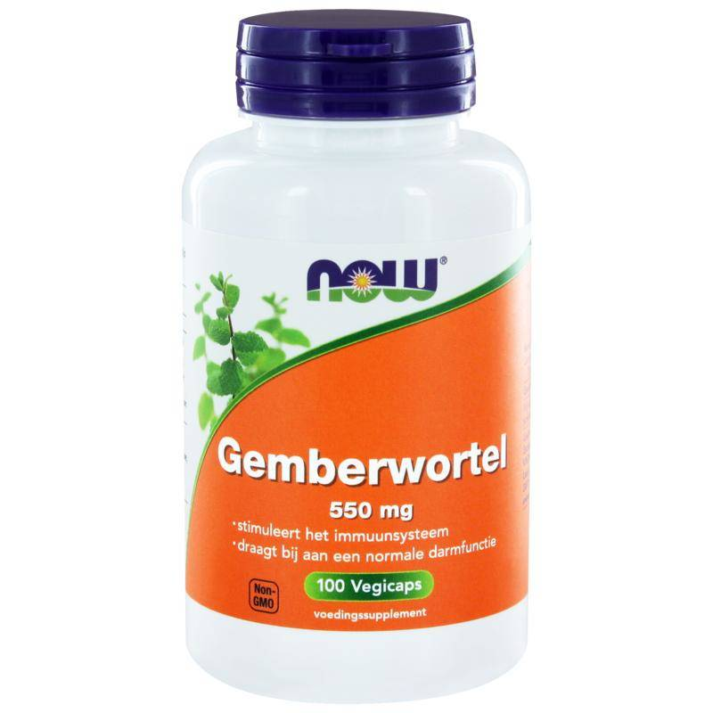 NOW Gemberwortel 550 mg