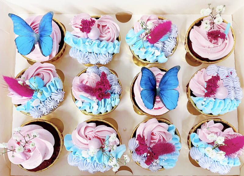 CUPCAKE BOX | COLORFULL BUTTERFLY