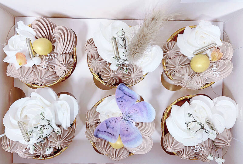CUPCAKE BOX | BROWN BUTTERFLY