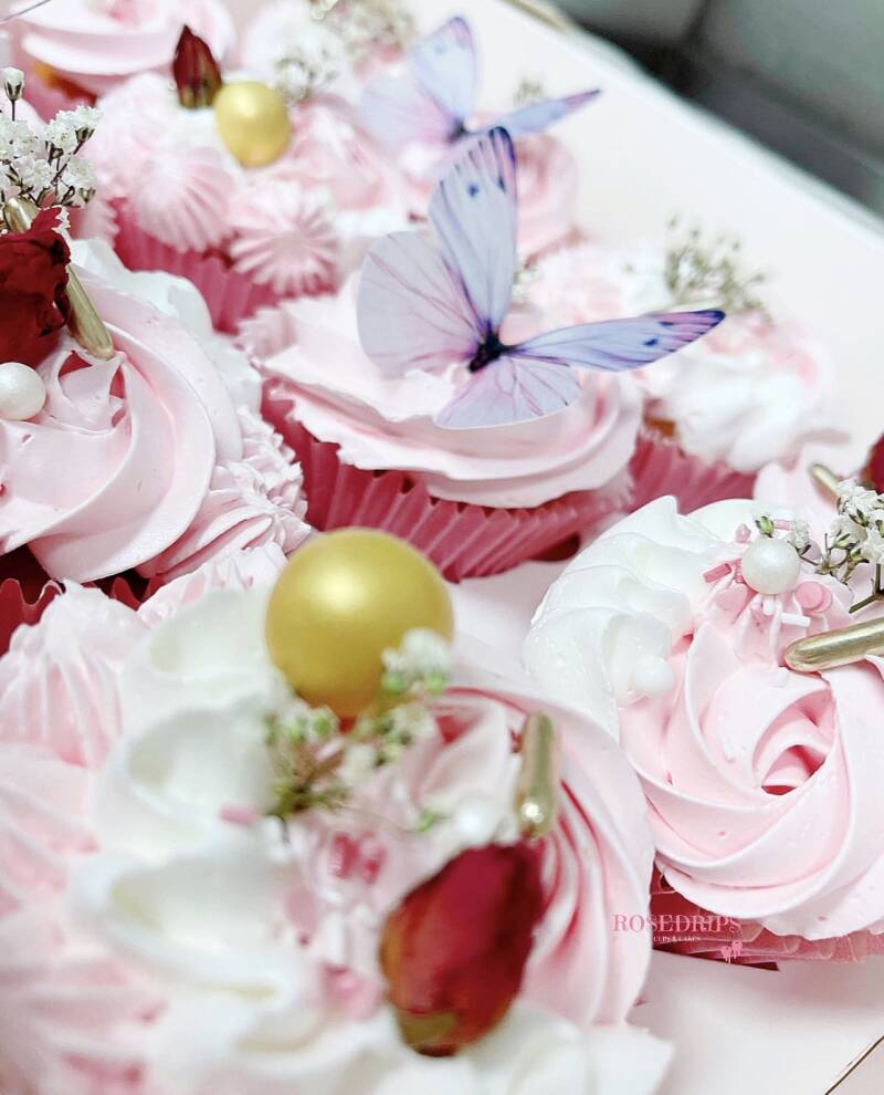 CUPCAKE BOX | PINK BUTTERFLY