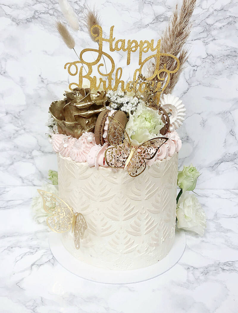 CAKE   GOLD BUTTERFLY