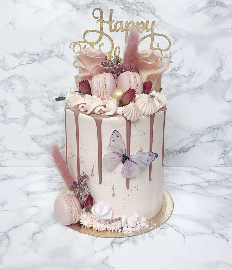 DRIPCAKE | DELUXE PINK BUTTERFLY