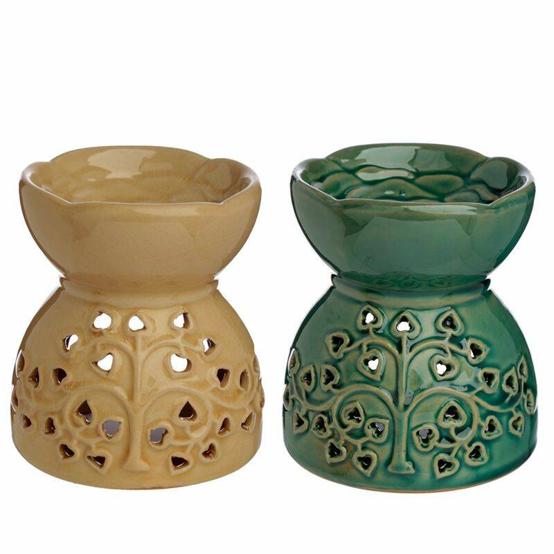 Tree Pattern Ceramic Oil Burner