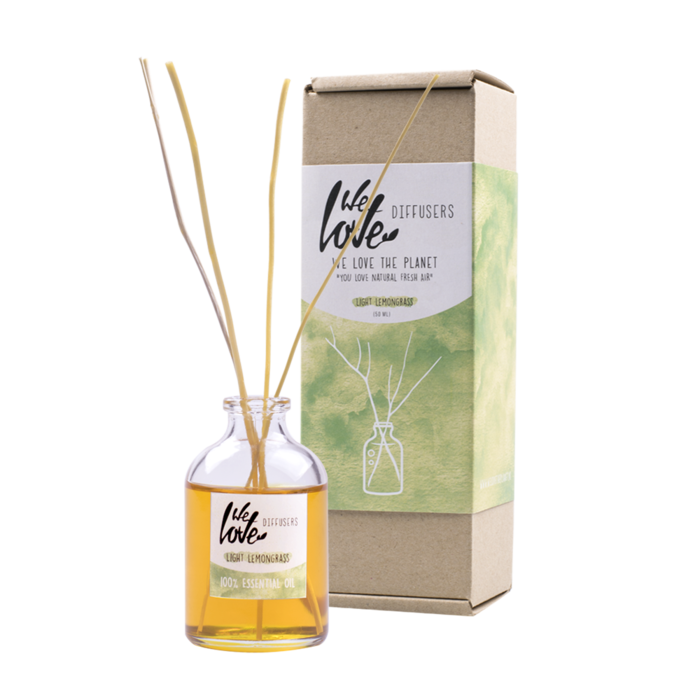 We Love The Planet Diffuser Light Lemongrass 50ml