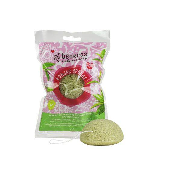 Natural Konjac Sponge Green Tea Gezichtsspons
