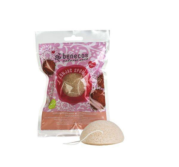 Natural Konjac Sponge Red Clay Gezichtsspons